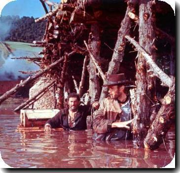 Screenshot of an important scene for the Good the Bad and the ugly 1966 Sourcre:www.filmforum.com