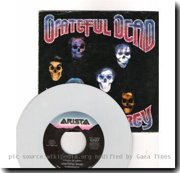 Grateful Dead Touch of Grey Grey Vinyl 7.