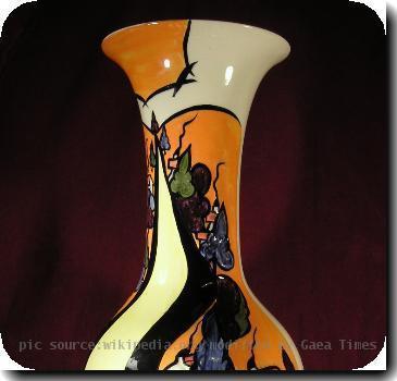 Lorna Bailey May Bank Vase 1996-1997.