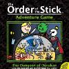 Summary  Box cover of The Order of the Stick Adventure Game: The Dungeon of Dorukan, designed by Rich Burlew and Kevin Brusky. First Printing, August 2006. Published by APE Games. Cover illustration ©2006 Rich Burlew. Fair us