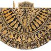 The drawing of the Hungarian Crowning Mantle, 11th C. A. D. Szaniszlo Berczi From the collection of Eurasian art drawing collection of Szaniszlo Berczi made in 2000, at Budapest