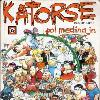 This is a cover of Katorse!, the 14th compilation of the comic strip series Pugad Baboy. This is a scan of a copy of the book that I own.