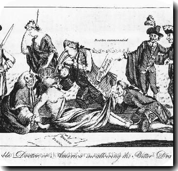 Boston cartoon 1774