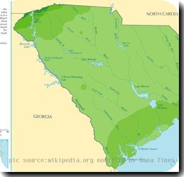 Annual average rainfall for South Carolina (2008031)