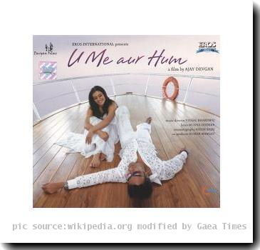 The CD cover for the film U, Me aur Hum. The copyrights of this image belongs to the producer of the film in question, Devgan Entertainment Software Ltd. and Eros Labs