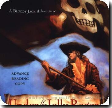 The cover of the book Under the Jolly Roger by L.A. MEyer