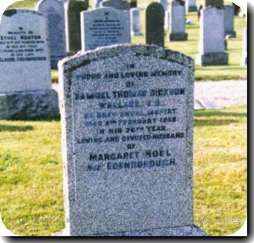 Grave photo of Victoria Cross recipient Collingwood Dickson, migrated from the Victoria Cross Reference site with permission..