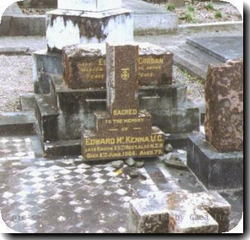 Grave photo of Victoria Cross recipient Edward McKenna, migrated from the Victoria Cross Reference site with permission..