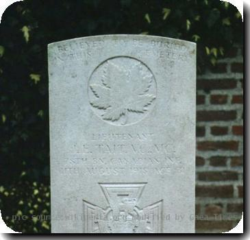 Grave photo of Victoria Cross recipient James Edward Tait, migrated from the Victoria Cross Reference site with permission..