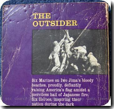 The rear cover of the 1961 British paperback edition by Panther Books of William Bradford Huies The Outsider. This was a retitling of his original 1959 collection Wolf Whistle and Other Stories.