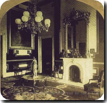 Stereograph view of the Green Room at the White House during the administration of President Andrew Johnson. Source Collection of Jim Hood Category:Images of the White House