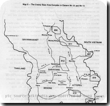 From Brig. Gen Soutchay Vongsavanh, RLG Military Operations and Activities in the Laotian Panhandle. Washington DC: US Army Center of Military History, 1980, p. 9.
