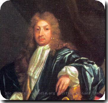 Portrait of John Dryden in older age, after being made poet laureate of the United Kingdom. PD-art