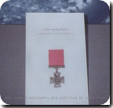 Photo of H.S. Mugfords medal at the Imperial War Museum. Submitted by Antoni Chmielowski, 5 Dec 2000.