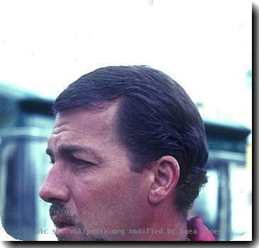 Joakim Bonnier 1966 im Fahrerlager des Nürburgrings