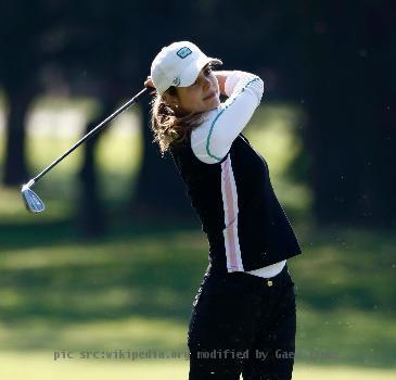 Spanish golfer Beatriz Recari