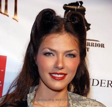 Adrianne Curry attending a benefit for wounded veterans at the Playboy Mansion, Los Angeles, CA on May 16th 2009