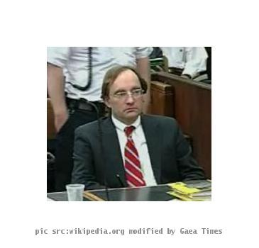 Clark Rockefeller in court on June 3, 2009 in Boston, MA at Suffolk Superior court. This is a screen grab from the courtroom video feed.