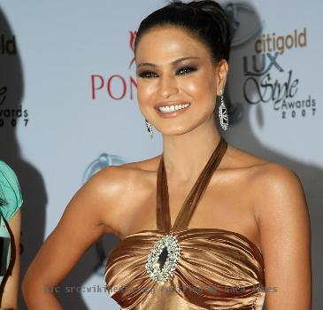 Veena Malik at the red carpet event for the Lux Style Awards.