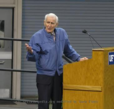 Dr. Jack Kevorkian, best known for his advocacy for assisted suicide