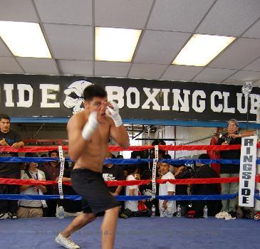 Victor Ortiz media workout on June 24, 2009 at the Westside Boxing Club in Los Angeles.