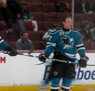 Jeremy Roenick in warmups before a game versus the Anaheim Ducks