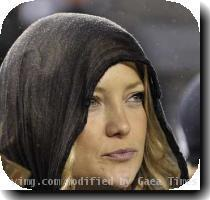 Actress Kate Hudson watches the action during Game 1 of the 2009