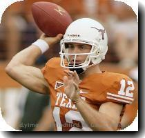 <p>FILE   This Sept  5  2009  file photo shows Texas senior quarterback Colt McCoy during first quarter action in his team s 59 20 NCAA college football victory over Louisiana Monroe in Austin  Texas  Three years after their first meeting  Roger Staubach  the former Heisman Trophy winner  Super Bowl winner and all around Texas icon has become a friend  mentor and occassional golfing partner to the senior quarterback of the No  3 Texas Longhorns  Colt McCoy  < p>