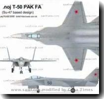 develop two versions of the combat aircraft   a two seat version to meet the requirements of India s air superiority policy  and a single seat version for the Russian Air Force  Sukhoi T 50 PAK FA Fifth Generation Fighter  Photo Credit  TV Grab Sukhoi has already started construction of a prototype which is expected to feature super maneuverability  super cruise