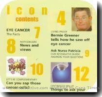 LIVING PROOF Bernie Greener tells how he saw off eye cancer