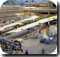 With all the activity surrounding ZA001 this week  it s easy to forget that another new airplane is being assembled on the other side of the factory on the 747 line  Boeing has completed major