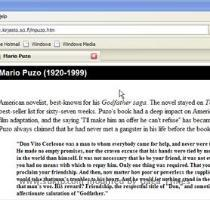 mario puzo novel Now suppose you click on  biography of mario puzo   check the below screenie to see what happens Wow  you are directly taken to  Mario puzo s biography   these links may keep on changing from time to time as these are phrases which are most searched on the web and the pages you are