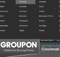 Groupons hit Cincinnati  I think a groupon  sounds likes like some sort of parasite that locks onto unsuspecting groups and steals their souls    which might be accurate as it turns out   Each day  Groupon emails