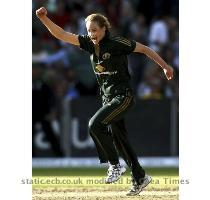 Buy this photo Shelley Nitschke   Nitschke takes a stunning catch at long on to remove Rosalie Birch Buy this photo Ellyse Perry   The 17 year old  who hit a useful 29  celebrates