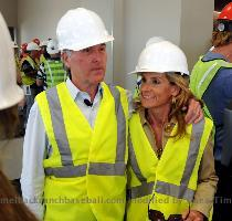 Los Angeles Dodgers owners Frank and Jamie McCourt during tour